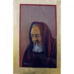 Santo Pio, icona con foglia d'oro