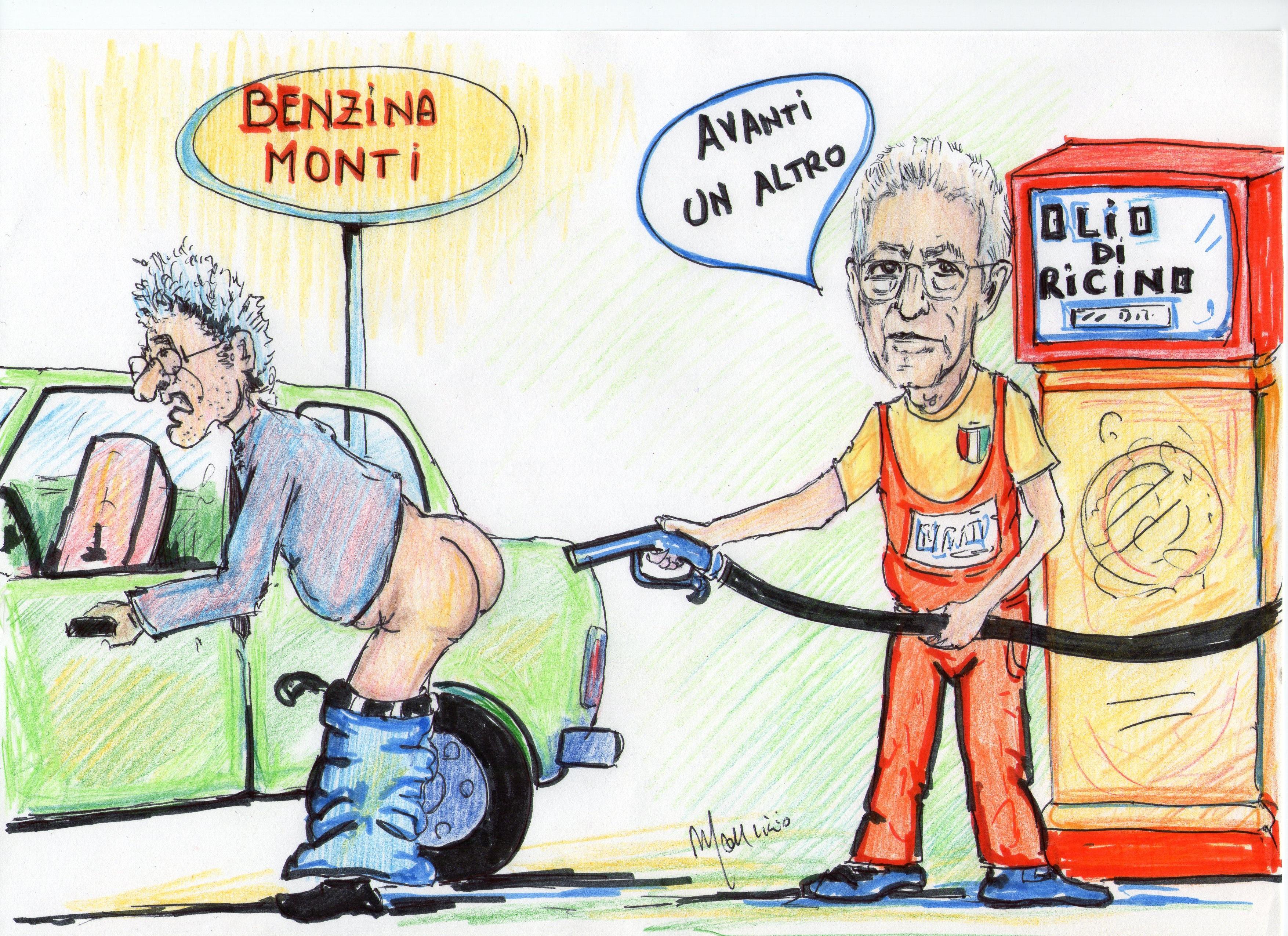 caricatura Mario Monti