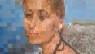 dipinto in acrilico tecnica PIXEL ART- titolo: Grazia sul bagnasciuga